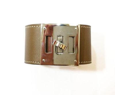 0044a3c85c4d0e Chanel Brand New Gunmetal Purple Iridescent CC Bracelet - LAR Vintage