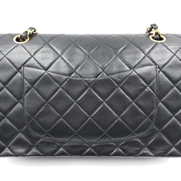 acc2ca56661c Chanel Vintage 24K Gold Plated Black Lambskin Timeless 10″ Double Flap Shoulder  Bag. Brand New Chanel Denim Chevron Le Boy Medium ...