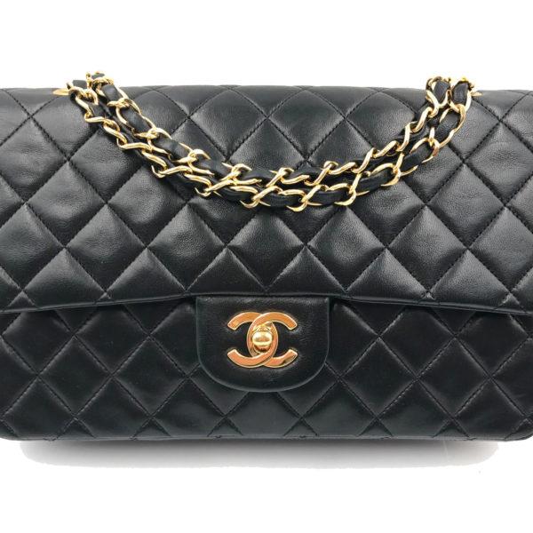 c28b75e3e8df Vintage Chanel Black Lambskin Timeless 10