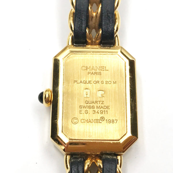 Chanel Vintage 24k Gold Plated Leather Braid Watch Lar