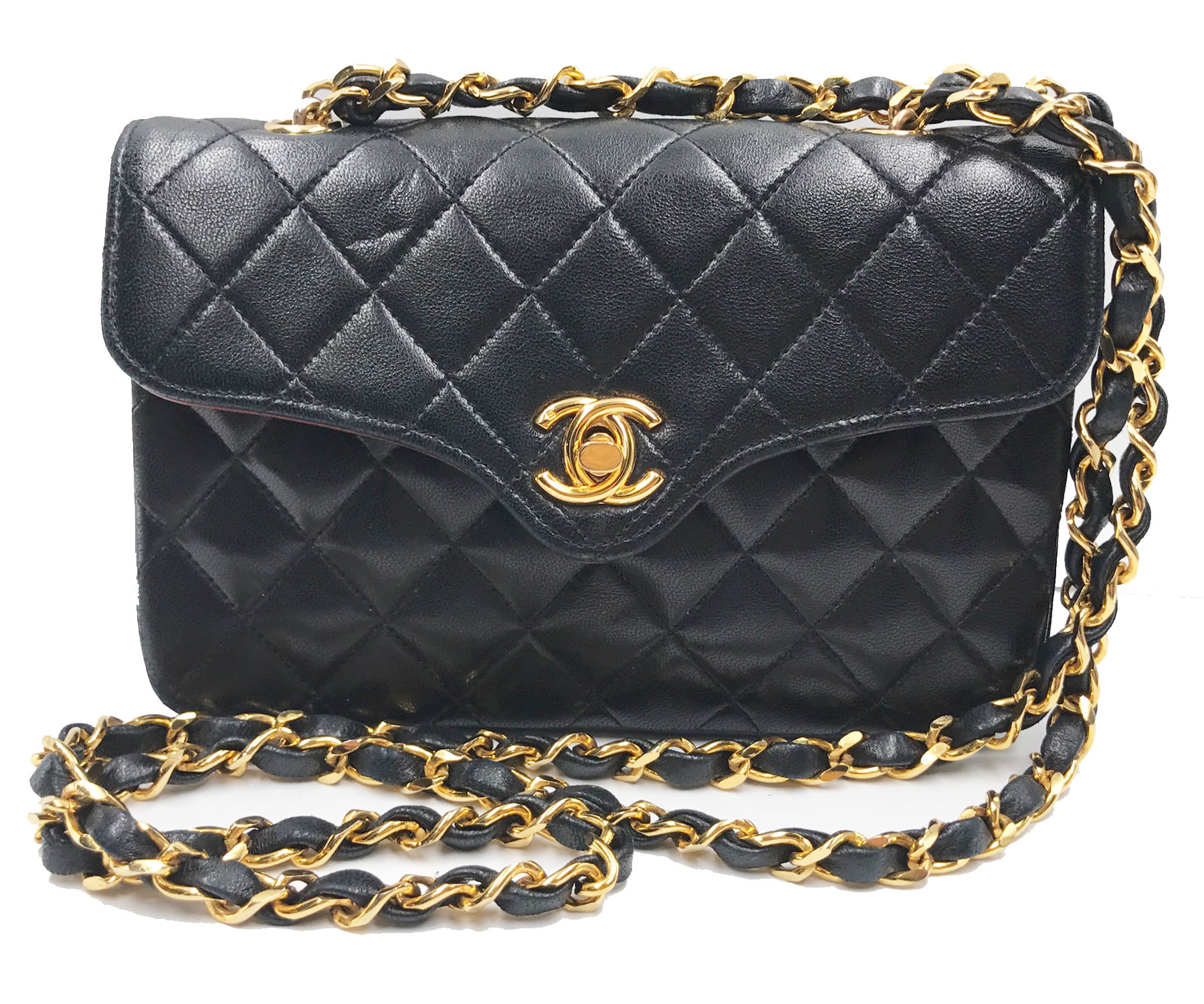 40ab5a34320e Vintage Small Crossbody Chanel Black Purse | Stanford Center for ...