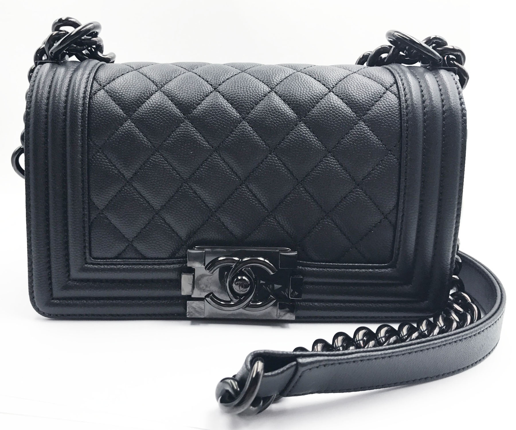 a33d7037bed Chanel Brand New 17 So Black Caviar Small Le Boy Crossbody