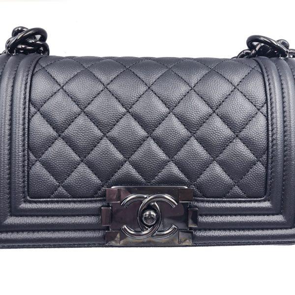 72ada288871 Chanel Brand New 17 So Black Caviar Small Le Boy Crossbody Bag with  Ruthenium Hardware