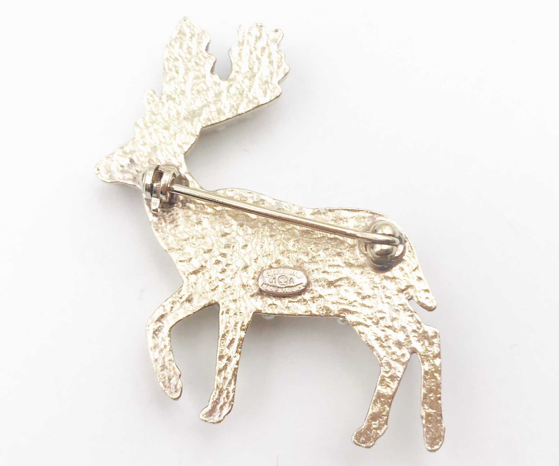 pendant gold brooch ways faced products dsc deer double