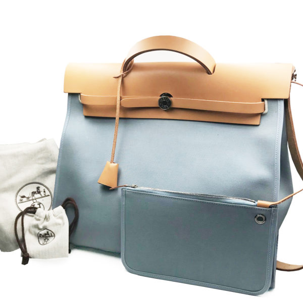5982344b15e3 ... ireland hermes light blue herbag zip large size shoulder bag e4ae7 f86d7