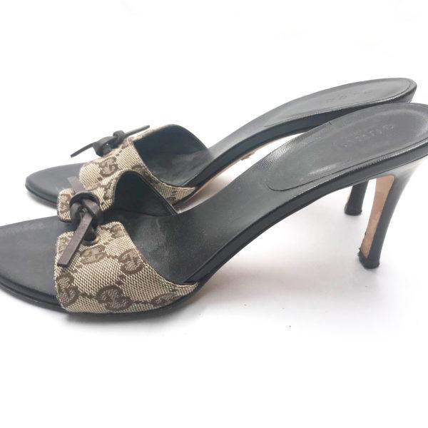 21c5cf885b60 Gucci Monogram Sandals - LAR Vintage