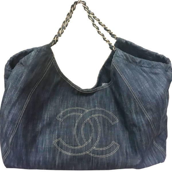 09f0d878193b1c travel chanel images Chanel denim super large travel shoulder bag lar  vintage jpg