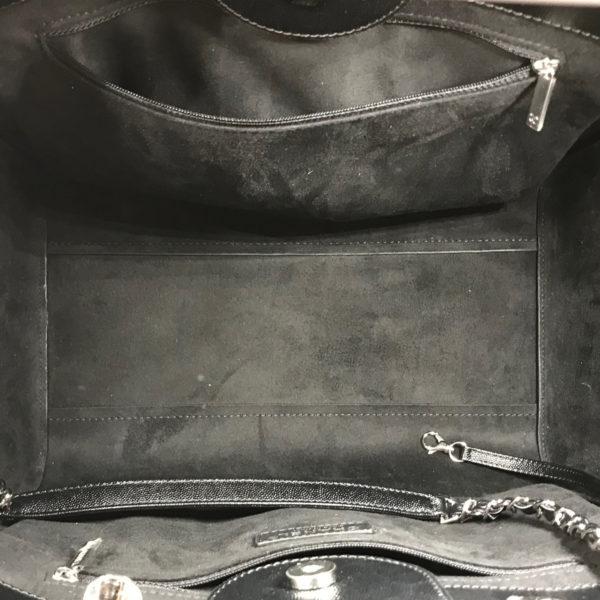 64b75e7466fe Chanel Brand New Black Caviar Stud Deauville Large Tote Bag 2543 ...