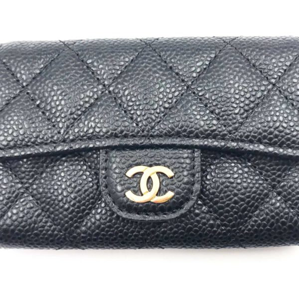 9e5badc654c4 Chanel Brand New Classic Black Caviar Flap Card Holder - LAR Vintage