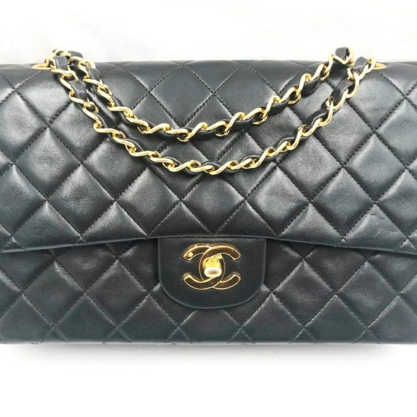 ae4211acb36fd9 Chanel Classic Black Lambskin Timeless 10