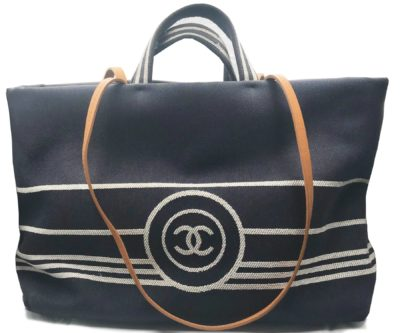 9fe568e03d4 Chanel Denim Large Tote with Leather Shoulder Straps